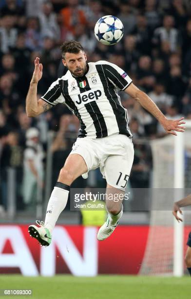 Andrea Barzagli of Juventus in action during the UEFA Champions League semi final second leg match between Juventus Turin and AS Monaco at Juventus...