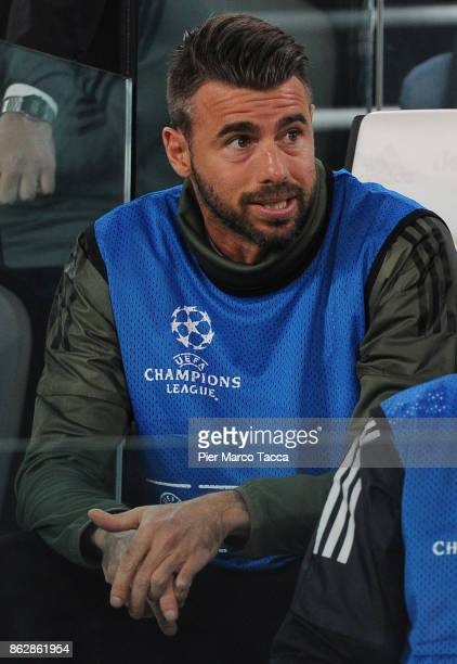 Andrea Barzagli of Juventus looks on during the UEFA Champions League group D match between Juventus and Sporting CP at Juventus Stadium on October...