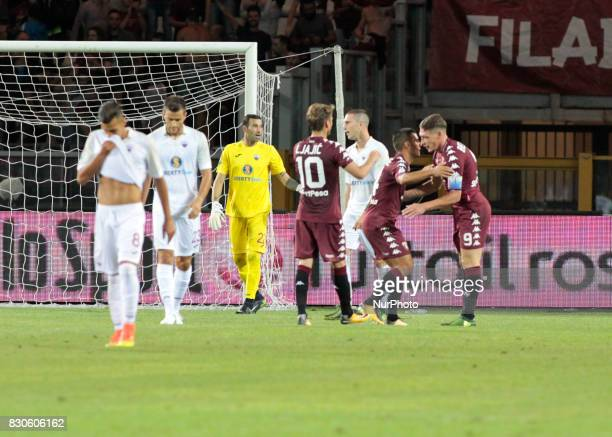 Andrea Belotti celebrates his goal during Tim Cup 2017/2018 match between Torino v Trapani in Turin on August 11 2017 FC Torino win 71 the math