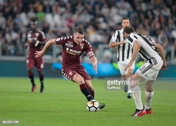 Andrea Belotti during Serie A match between Juventus v Torino in Turin on September 23 2017
