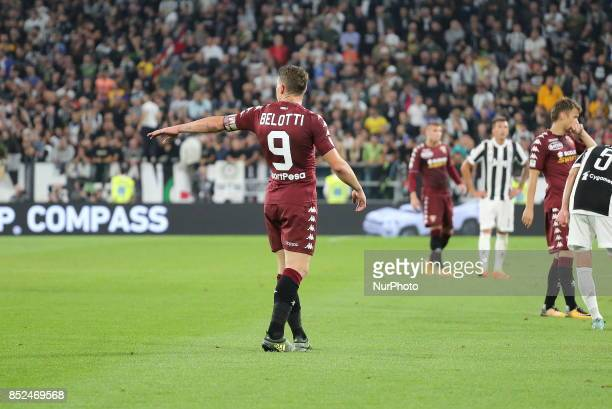 Andrea Belotti during the Serie A football match between Juventus FC and Torino FC at Allianz Stadium on 23 September 2017 in Turin Italy