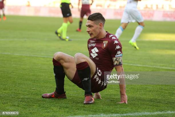 Andrea Belotti during the Serie A football match between Torino FC and AC Chievo Verona at Olympic Grande Torino Stadium on 19 November 2017 in Turin...