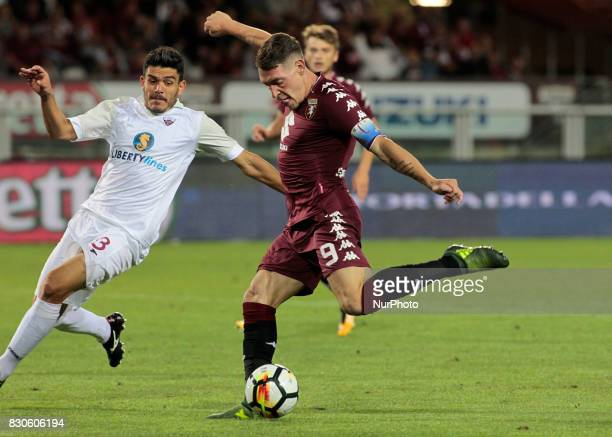 Andrea Belotti during Tim Cup 2017/2018 match between Torino v Trapani in Turin on August 11 2017 FC Torino win 71 the math