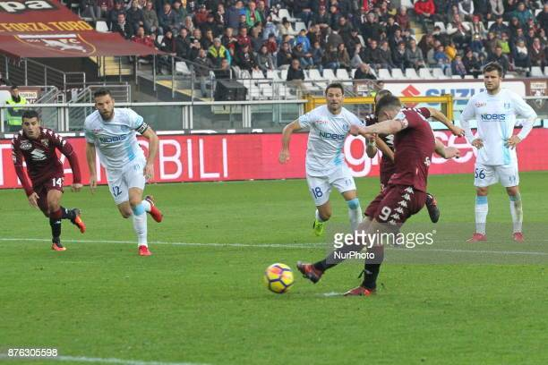 Andrea Belotti fails the penalty during the Serie A football match between Torino FC and AC Chievo Verona at Olympic Grande Torino Stadium on 19...