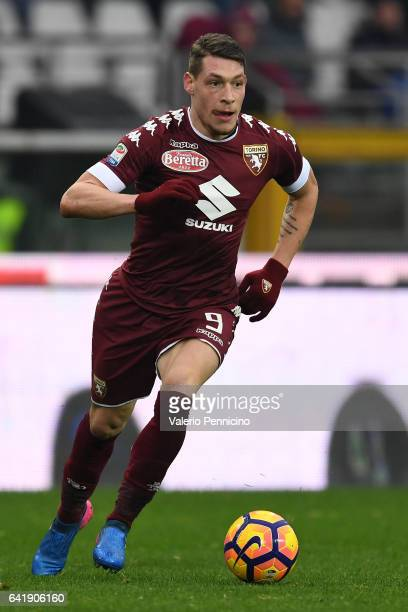 Andrea Belotti of FC Torino in action during the Serie A match between FC Torino and Pescara Calcio at Stadio Olimpico di Torino on February 12 2017...