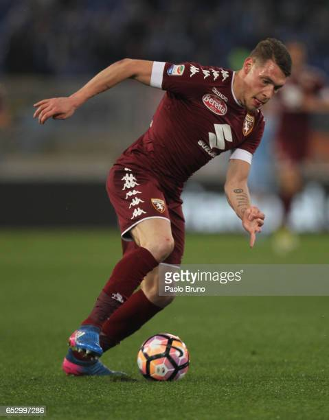 Andrea Belotti of FC Torino in action during the Serie A match between SS Lazio and FC Torino at Stadio Olimpico on March 13 2017 in Rome Italy