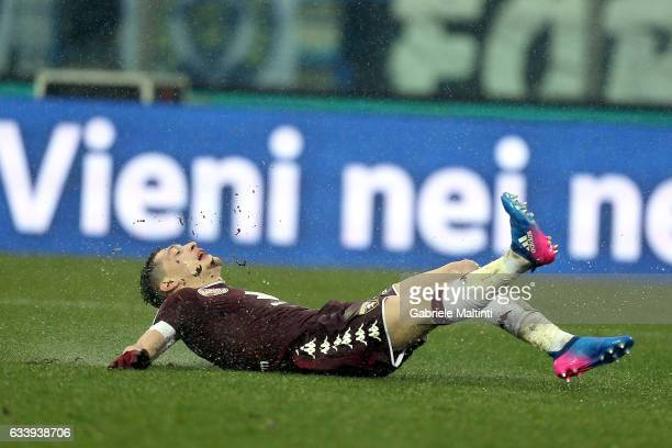 Andrea Belotti of FC Torino reacts during the Serie A match between Empoli FC and FC Torino at Stadio Carlo Castellani on February 5 2017 in Empoli...