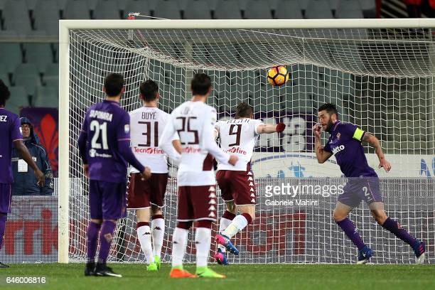 Andrea Belotti of FC Torino scores a goal during the Serie A match between ACF Fiorentina and FC Torino at Stadio Artemio Franchi on February 27 2017...