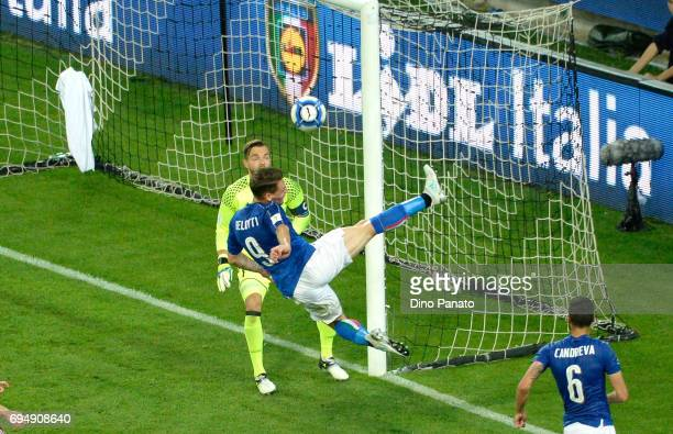 Andrea Belotti of Italy cin action during the FIFA 2018 World Cup Qualifier between Italy and Liechtenstein at Stadio Friuli on June 11 2017 in Udine...