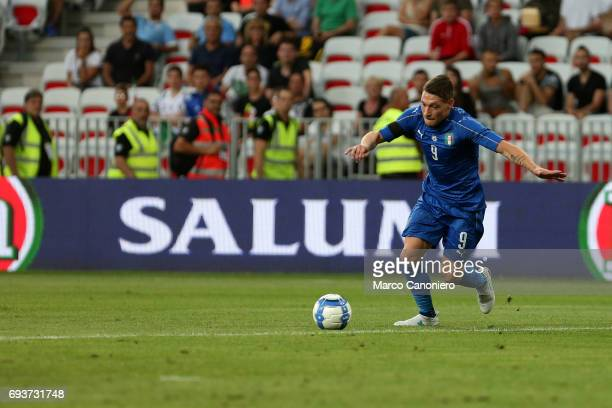 Andrea Belotti of Italy in action during the international friendly match between Italy and Uruguay Italy wins 30 over Uruguay
