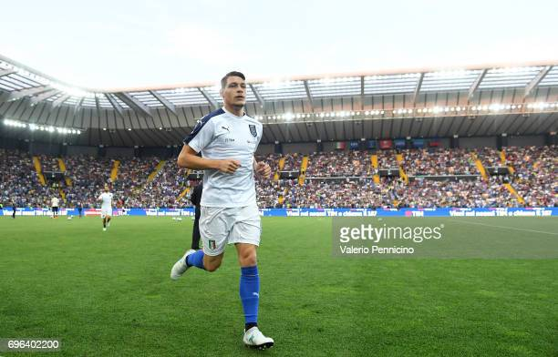Andrea Belotti of Italy looks on prior to the FIFA 2018 World Cup Qualifier between Italy and Liechtenstein at Stadio Friuli on June 11 2017 in Udine...