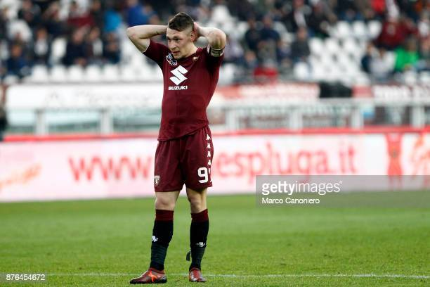 Andrea Belotti of Torino FC despair during the Serie A football match between Torino Fc and Ac Chievo Verona The match ended in a 11 tie