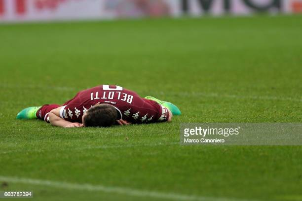 Andrea Belotti of Torino FC despairs at the end of the Serie A football match between Torino FC and Udinese Final result is 22