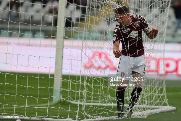 Andrea Belotti of Torino FC disappointed after having missed a goal during the Serie A football match between Torino Fc and Uc Sampdoria