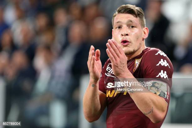 Andrea Belotti of Torino FC during the Serie A football match between Juventus Fc and Torino Fc Juventus won the game 4 goals to nil