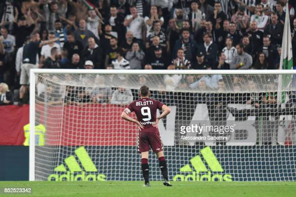 Andrea Belotti of Torino FC during the Serie A match between Juventus and Torino FC on September 23 2017 in Turin Italy