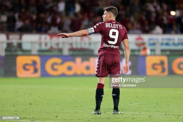 Andrea Belotti of Torino FC in action during the Italia Tim Cup match between Torino Fc and Trapani Calcio Torino Fc wins 71 over Trapani Calcio