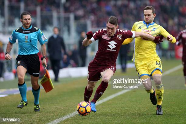 Andrea Belotti of Torino FC in action during the Serie A football match between Torino FC and Pescara at Stadio Olimpico di Torino Torino Fc wins 51...