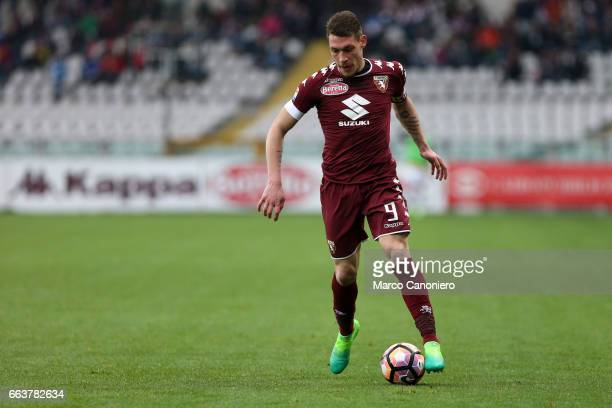Andrea Belotti of Torino FC in action during the Serie A football match between Torino FC and Udinese Final result is 22