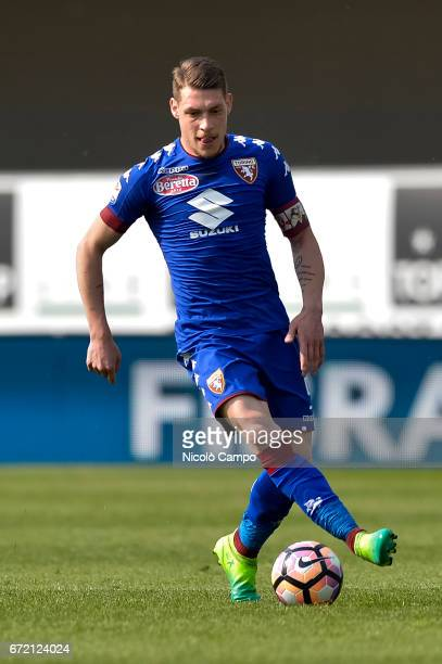 Andrea Belotti of Torino FC in action during the Serie A football match between AC ChievoVerona and Torino FC Torino FC wins 31 over AC ChievoVerona