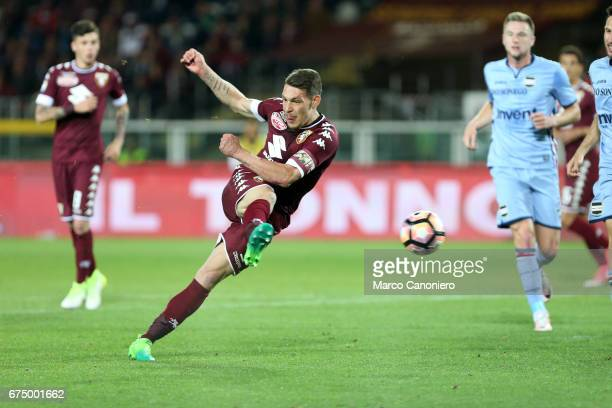Andrea Belotti of Torino FC in action during the Serie A football match between Torino FC and Uc Sampdoria The match ended in a 11 draw