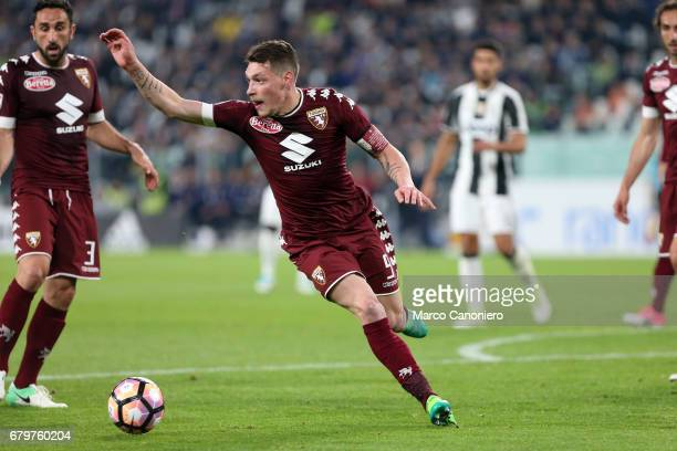 Andrea Belotti of Torino FC in action during the Serie A football match between Juventus Fc and Torino Fc