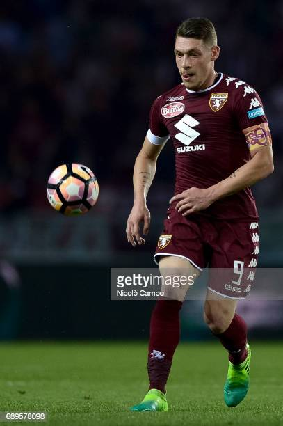 Andrea Belotti of Torino FC in action during the Serie A football match between Torino FC and US Sassuolo Torino FC wins 53 over US Sassuolo