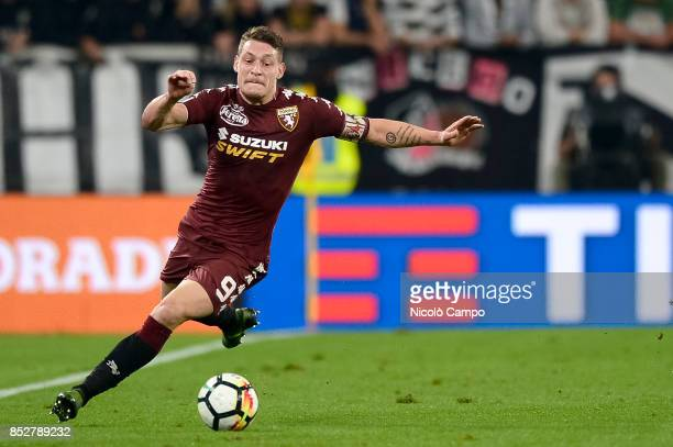 Andrea Belotti of Torino FC in action during the Serie A football match between Juventus FC and Torino FC Juventus FC wins 40 over Torino FC