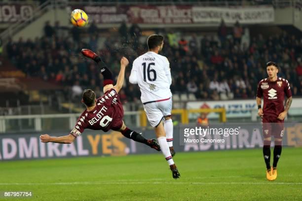 Andrea Belotti of Torino FC in action during the Serie A football match between Torino Fc and Cagliari Calcio Torino Fc wins 21 over Cagliari Calcio