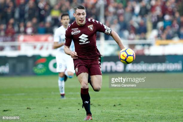 Andrea Belotti of Torino FC in action during the Serie A football match between Torino Fc and Ac Chievo Verona The match ended in a 11 tie