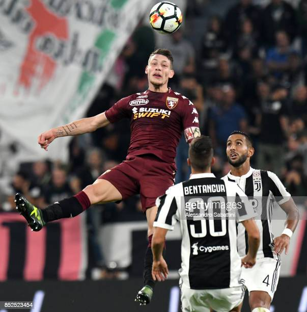 Andrea Belotti of Torino FC in action during the Serie A match between Juventus and Torino FC on September 23 2017 in Turin Italy