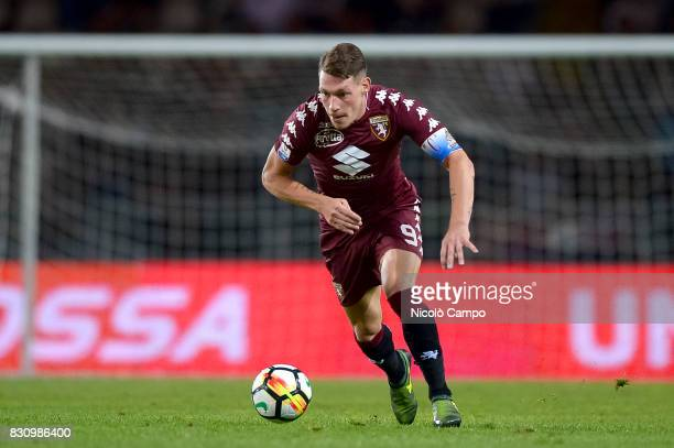 Andrea Belotti of Torino FC in action during the TIM Cup football match between Torino FC and Trapani Calcio Torino FC wins 71 over Trapani Calcio