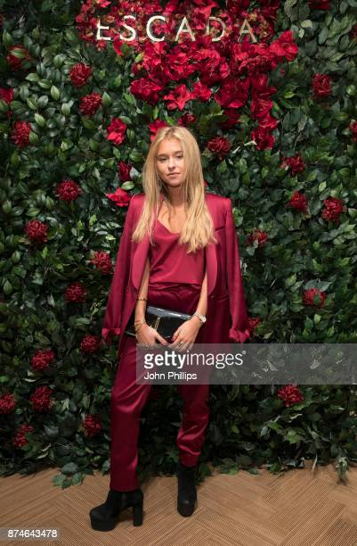 Andrea Belver attends New Flagship Store Opening of Luxury Fashion Brand ESCADA on Sloane Street on November 15 2017 in London England
