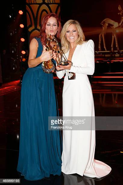Andrea Berg and Helene Fischer attend the Bambi Awards 2013 at Stage Theater on November 14 2013 in Berlin Germany