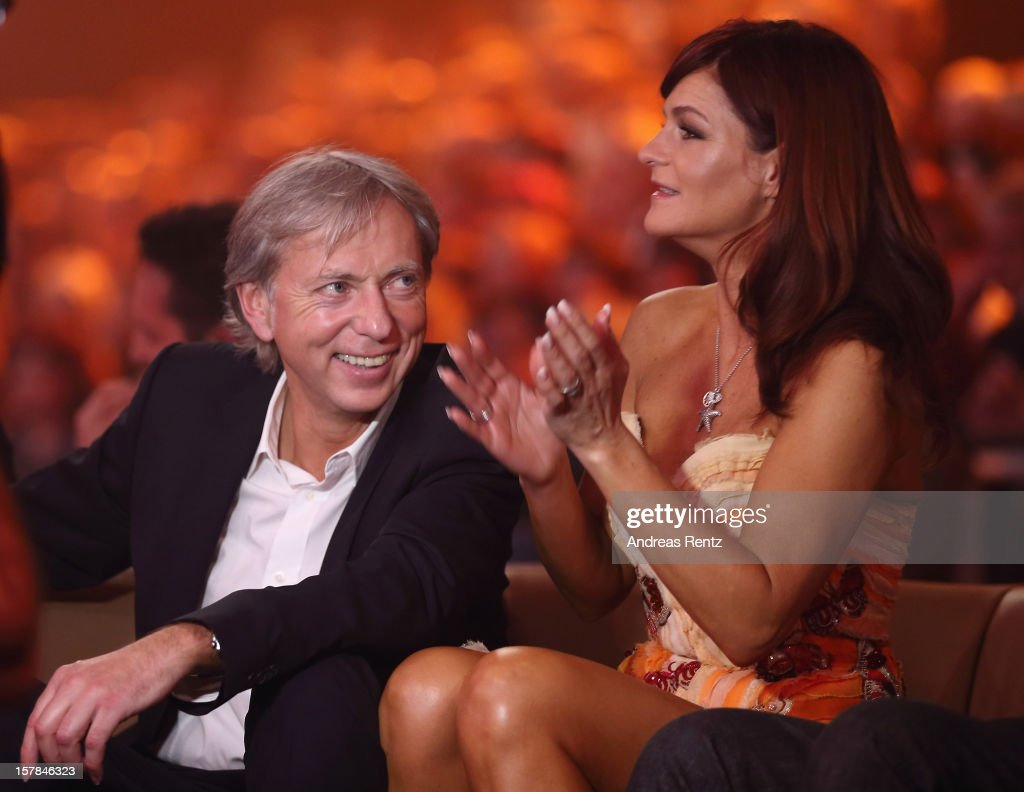 Andrea Berg and her husband Uli Ferber attend the Andrea Berg 'Die 20 Jahre Show' at Baden Arena on December 6 2012 in Offenburg Germany