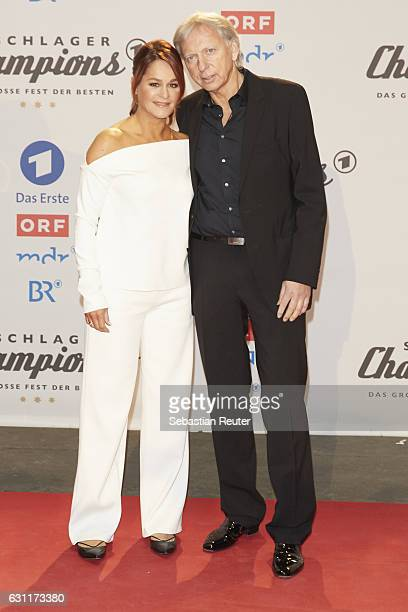 Andrea Berg and her husband Uli Ulrich Ferber attend the 'Das grosse Fest der Besten' tv show at Velodrom on January 7 2017 in Berlin Germany