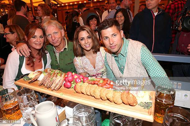 Andrea Berg and her husband Uli Ulrich Ferber her stepson Andreas Ferber with his girlfriend Vanessa Mai during the opening of the oktoberfest 2016...