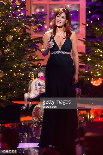 Andrea Berg attends the TV show 'Die schönsten Weihnachtshits' on December 4 2014 in Munich Germany