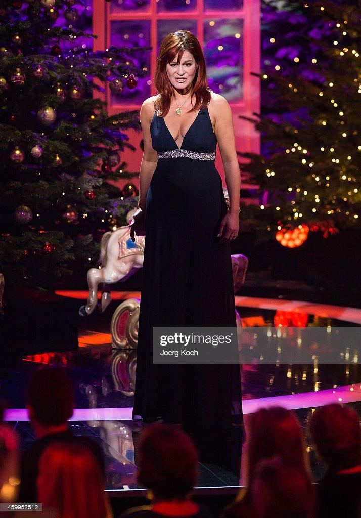 Andrea Berg attends the TV show 'Die schönsten Weihnachtshits' on December 4, 2014 in Munich, Germany.