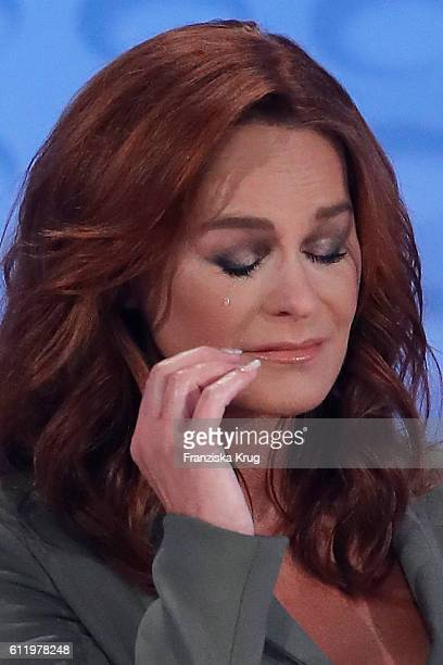 Andrea Berg during the tv show 'Willkommen bei Carmen Nebel' at Velodrom on October 1 2016 in Berlin Germany