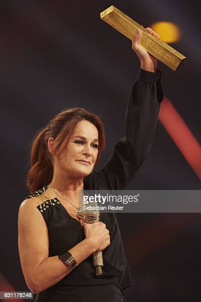 Andrea Berg is seen on stage at the 'Das grosse Fest der Besten' tv show at Velodrom on January 7 2017 in Berlin Germany