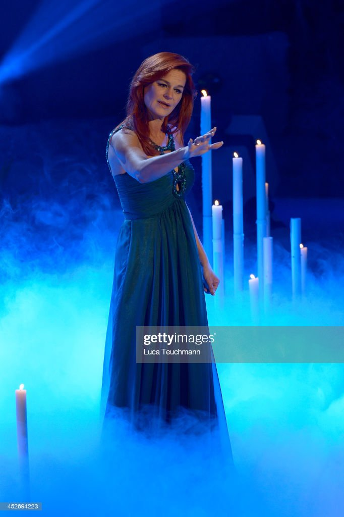 Andrea Berg perform on the TVShow 'Das Adventsfest der 100000 Lichter' at CCS Suhl on November 30 2013 in Suhl Germany