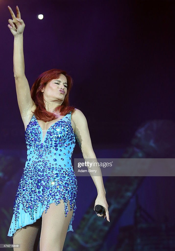 Andrea Berg performs during a concert at O2 World on February 22 2014 in Berlin Germany
