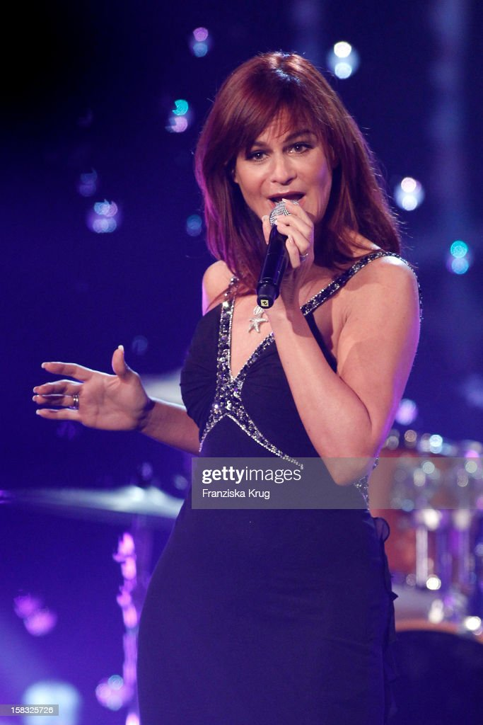 Andrea Berg performs during the 18th Annual Jose Carreras Gala Rehearsals on December 13 2012 in Leipzig Germany