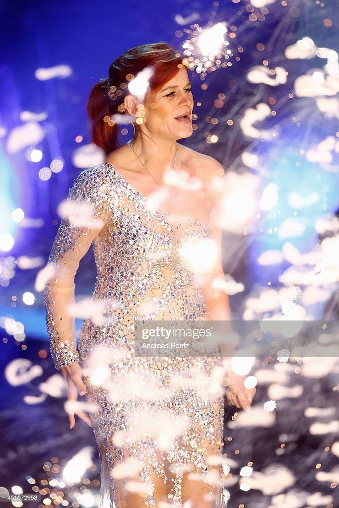 Andrea Berg performs during the 'Willkommen bei Carmen Nebel' show at Volkswagen Halle on November 23 2013 in Braunschweig Germany