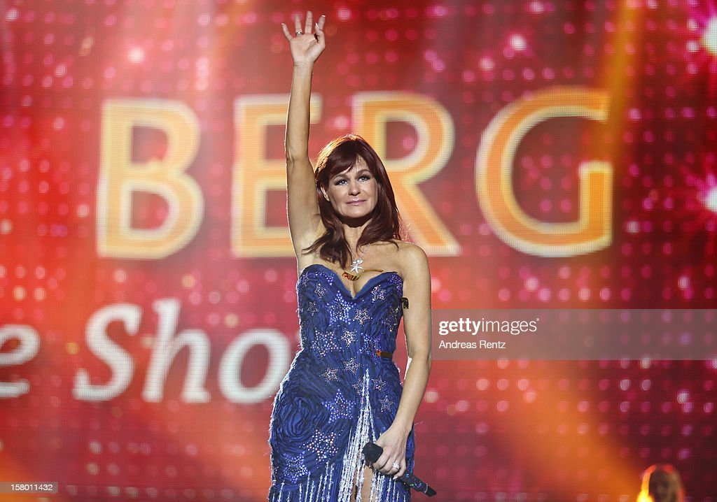 Andrea Berg performs on stage during the Andrea Berg 'Die 20 Jahre Show' at Baden Arena on December 7, 2012 in Offenburg, Germany.