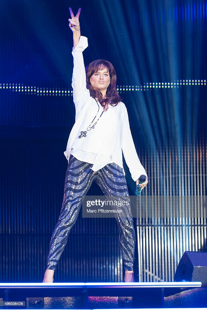 Andrea Berg performs onstage during the 'Schlager-Starparade' at the Koenig-Pilsener-Arena on November 8, 2015 in Oberhausen, Germany.