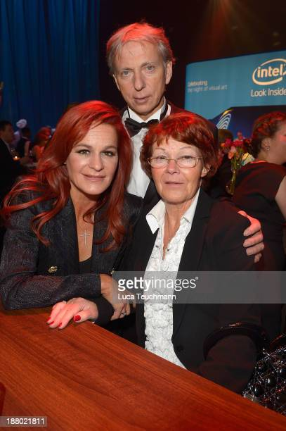 Andrea Berg Uli Ferber and Helga Zellen attend the Bambi Awards 2013 After Show Party at Stage Theater on November 14 2013 in Berlin Germany