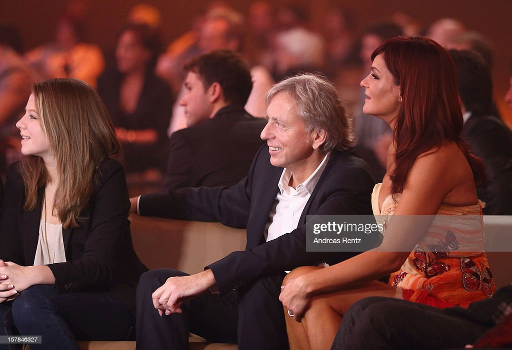 Andrea Berg with her husband Uli Ferber and daughter Lena Maria attend the Andrea Berg 'Die 20 Jahre Show' at Baden Arena on December 6, 2012 in Offenburg, Germany.