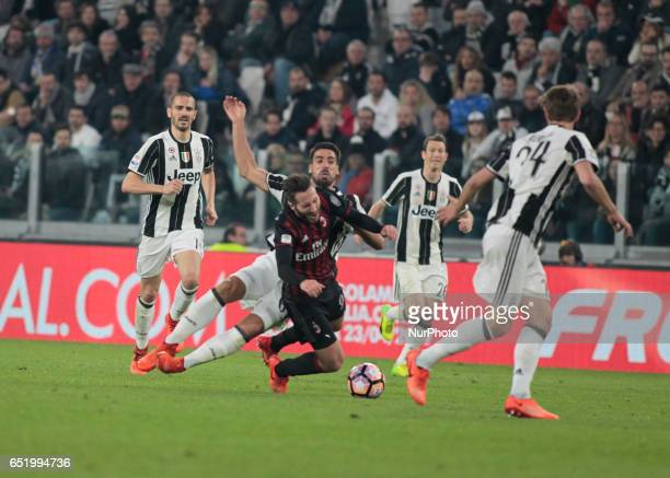 Andrea Bertolacci during Serie A match between Juventus v Milan in Turin on March 10 2017